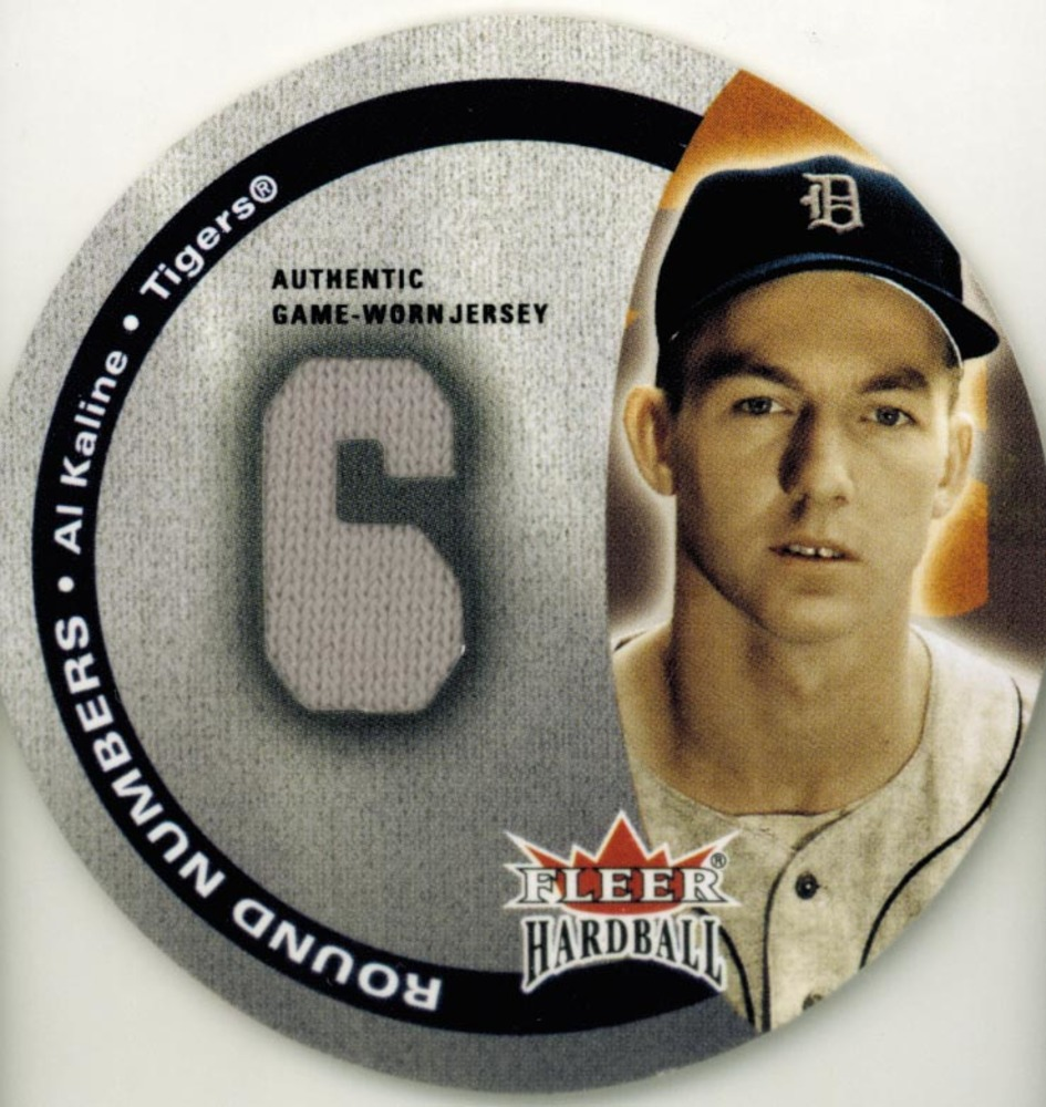 2003 Fleer Hardball Round Numbers Game Used  Al Kaline Jersey