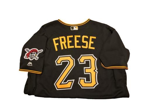 #23 David Freese Game-Used Black Alternate Jersey - Worn on 7/17/17