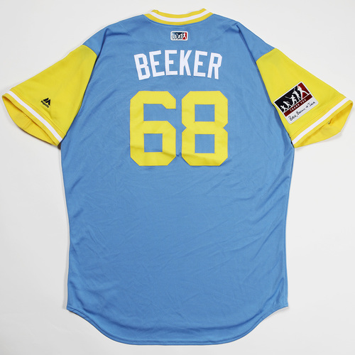 "Photo of Jalen ""Beeker"" Beeks Tampa Bay Rays Game-Used 2018 Players' Weekend Jersey"