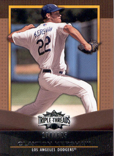 Photo of 2011 Topps Triple Threads Sepia #28 Clayton Kershaw