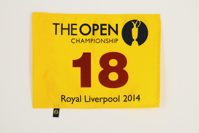 Photo of The 143rd Open Official Souvenir Pin Flag - Royal Liverpool 2014