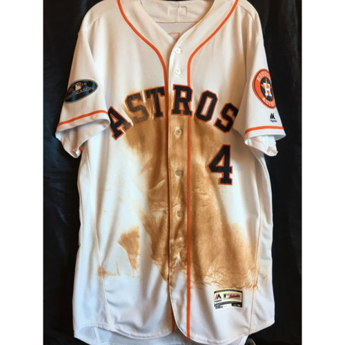 Photo of George Springer 2018 Game-Used ALDS/ALCS Jersey