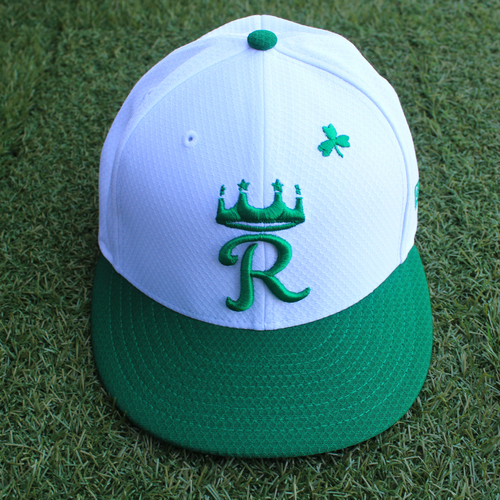 Photo of Team-Issued Saint Patrick's Day Cap: Brain Goodwin (Size 7 1/2 - SEA @ KC - 3/17/19)