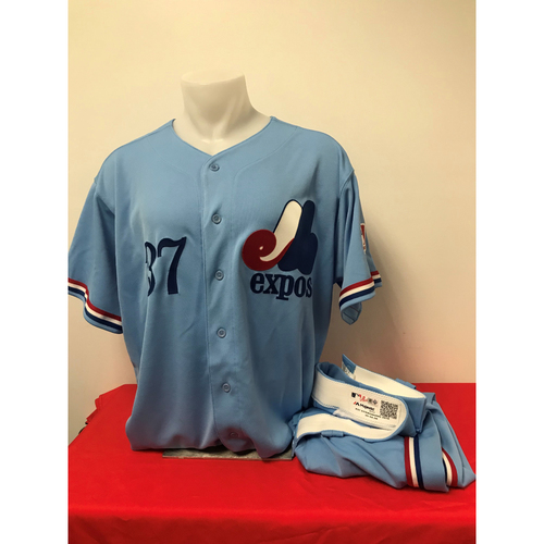 Photo of Stephen Strasburg Expos Gear: Game-Used Jersey and Game-Used Pants