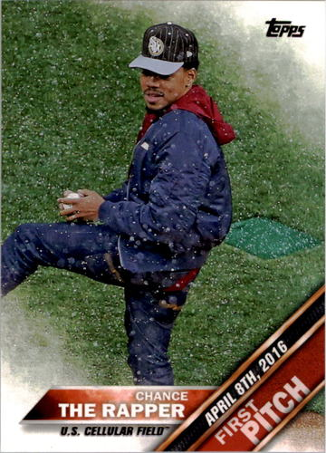 Photo of 2016 Topps Update First Pitch #FP7 Chance the Rapper