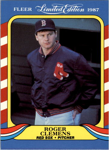 Photo of 1987 Fleer Limited Edition #9 Roger Clemens