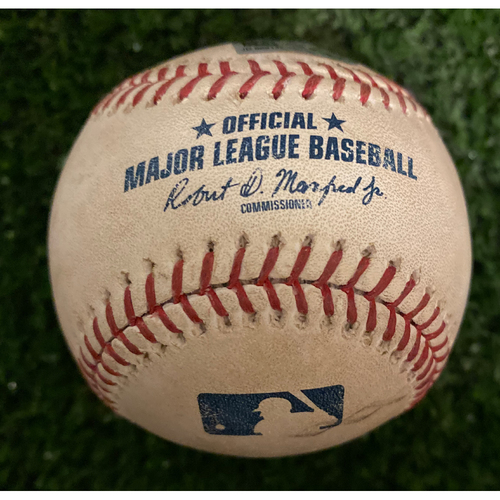 Photo of Trea Turner Game Used Triple Baseball - May 29, 2019