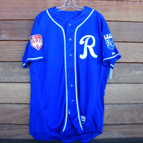Photo of Game-Used Jersey: Kelvin Gutierrez (Size 48 KC vs COL 2/25/19)