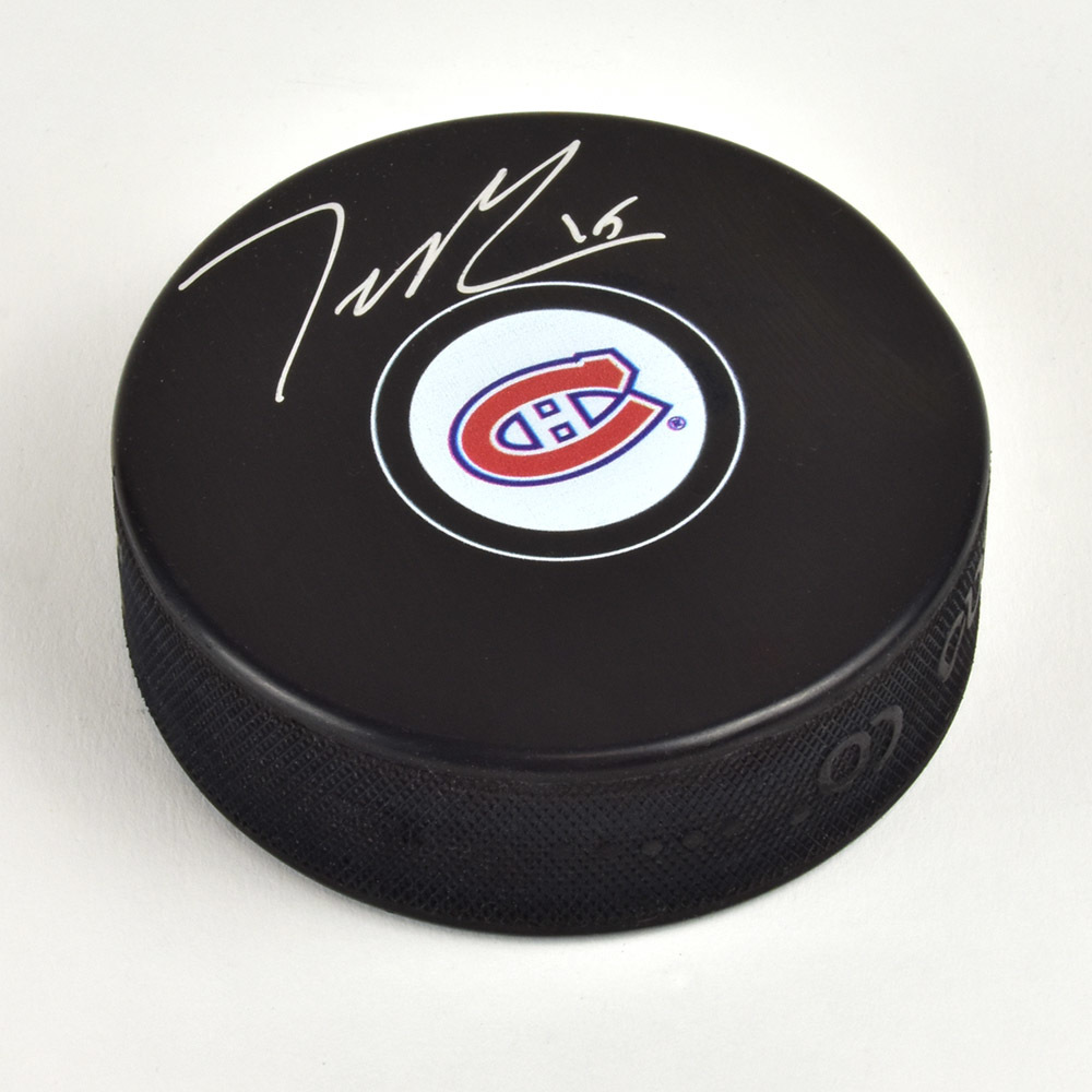 Jesperi Kotkaniemi Montreal Canadiens Signed Autograph Model Hockey Puck