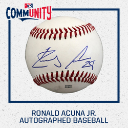 Photo of Ronald Acuna Jr. Autographed Baseball