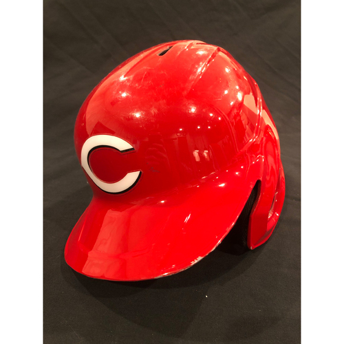 Photo of Matt Davidson -- 2020 Game-Used Helmet -- Worn for Reds Opening Day on July 24 vs. Tigers -- Helmet Scheduled to Arrive Prior to Dec 24
