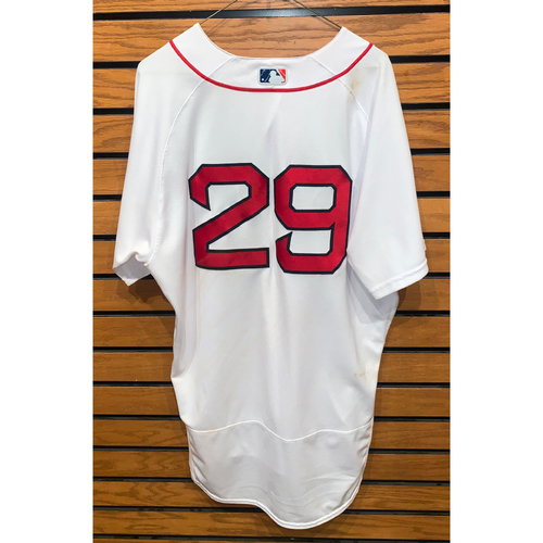 Photo of Bobby Dalbec May 13, 2021 Game Used Home Jersey - 2 for 4, Home Run (3rd of the season)