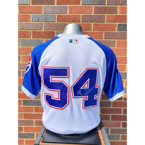 Photo of Max Fried MLB Authenticated, Autographed (Team-Issued or Game-Used) 1974 Style Jersey