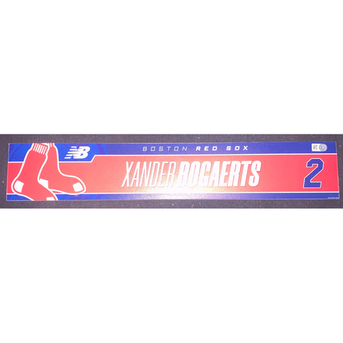 Photo of Xander Bogaerts September 5, 2021 Team Issued Locker Tag