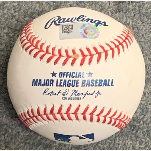 Photo of Baltimore Orioles at Boston Red Sox April 2, 2021 Batting Practice Used Ball - Hit over the Green Monster by a Baltimore Orioles player