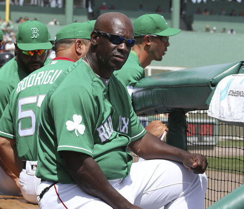 The Oakland Home Of Patrick Printy: Chili Davis Game-Worn & Autographed Red Sox St. Patrick's