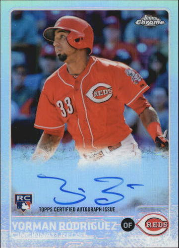 Photo of 2015 Topps Chrome Rookie Autographs Refractors #ARYR Yorman Rodriguez