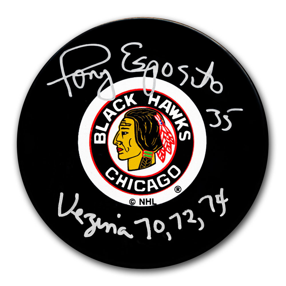 Tony Esposito Chicago Blackhawks VEZINA Autographed Puck