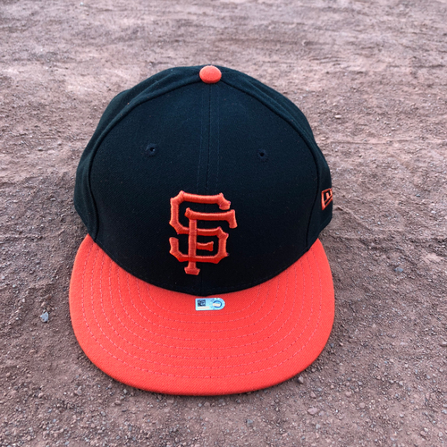 Photo of San Francisco Giants - 2017 Team-Issued Alternate Orange Bill Cap - #53 Austin Slater - Size 7 1/2