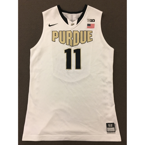 Photo of Stephen Toyra #11 Purdue Men's Basketball 2013-14 White Jersey