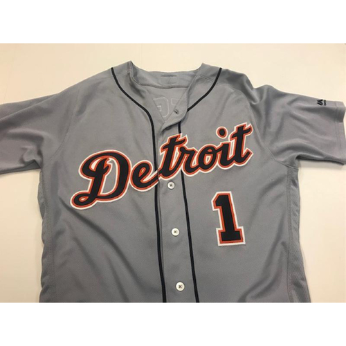 Photo of Game-Used Jose Iglesias Road Jersey