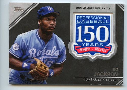 Photo of 2019 Topps 150th Anniversary Manufactured Patches #AMPBJ Bo Jackson S2
