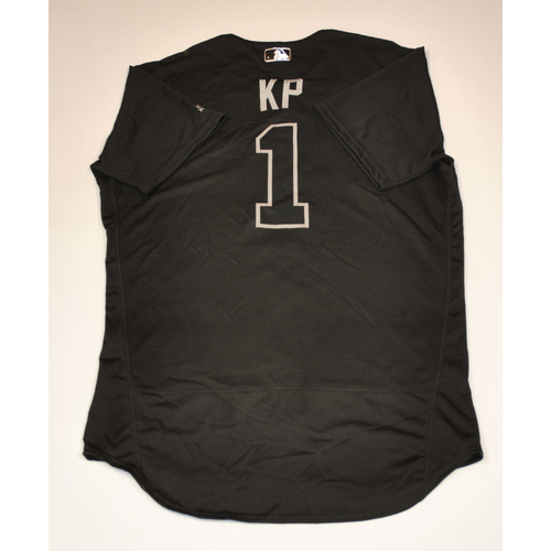 "Photo of Kevin ""KP"" Pillar San Francisco Giants Game-Used 2019 Players' Weekend Jersey"