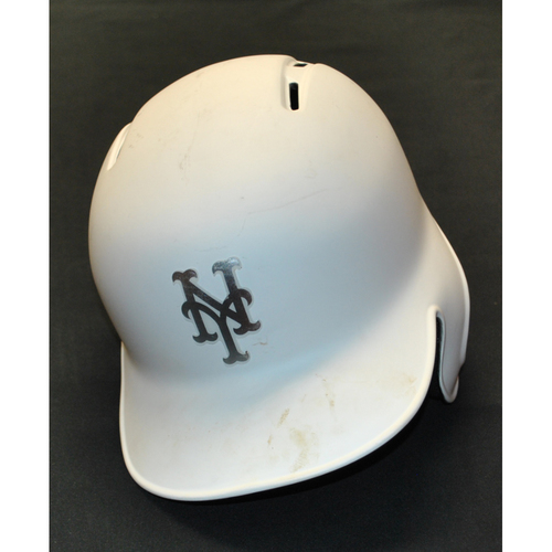 "Photo of Steven ""MATZY"" Matz New York Mets Game-Used 2019 Players' Weekend Helmet"