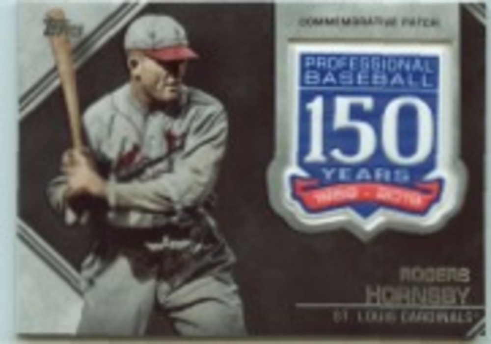 2019 Topps Update 150th Anniversary Manufactured Patches #AMPRHO Rogers Hornsby