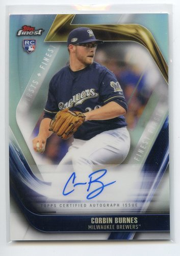 Photo of 2019 Finest Firsts Autographs #FFACB Corbin Burnes