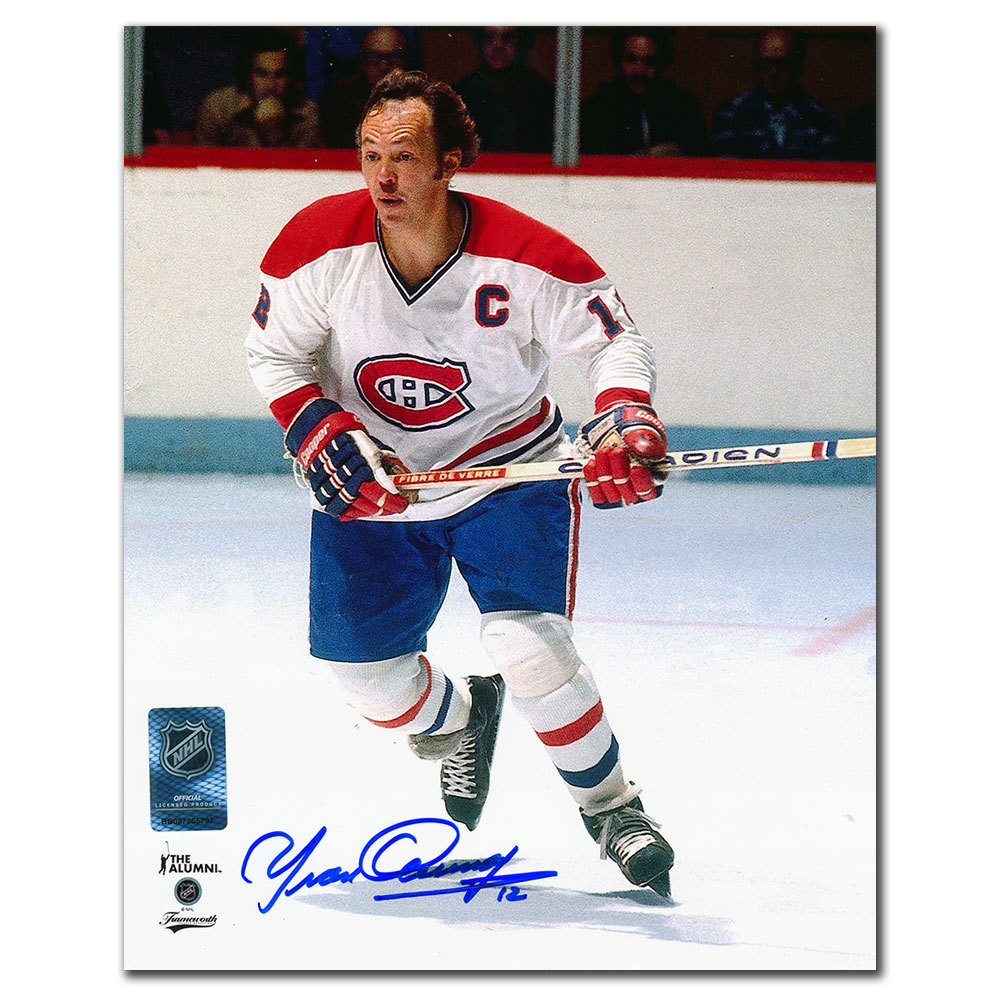 Yvan Cournoyer Montreal Canadiens RUSH Autographed 8x10