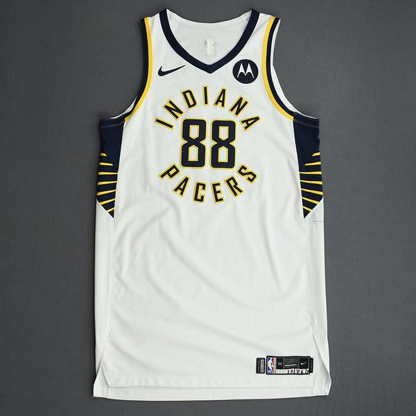 Image of Goga Bitadze - Indiana Pacers - Game-Worn Association Edition Rookie Debut Jersey - 2019-20 Season
