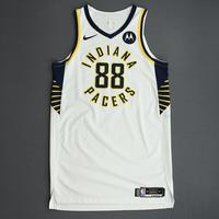 Goga Bitadze - Indiana Pacers - Game-Worn Association Edition Rookie Debut Jersey - 2019-20 Season