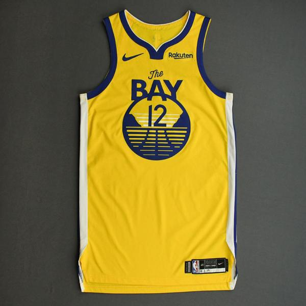 Image of Ky Bowman - Golden State Warriors - Game-Worn Statement Edition Jersey - 2019-20 NBA Season