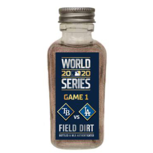 Photo of Game-Used Dirt Jar - 2020 World Series - Tampa Bay Rays v. Los Angeles Dodgers - Game 1