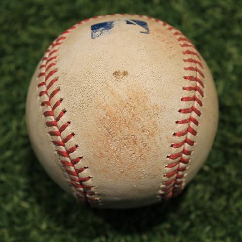 Photo of Game-Used Baseball: NL Gold Glove Award Winner Javier Baez 637th Career Hit (CHC @ KC 8/5/20)