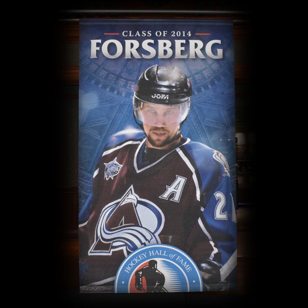 Peter Forsberg Hockey Hall of Fame Class of 2014 Banner (5ft x 9ft) - Limited Edition 1/1