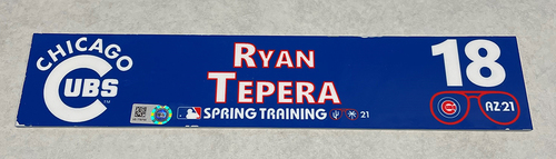 Photo of Ryan Tepera 2021 Spring Training Locker Nameplate