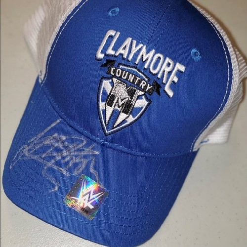 """Photo of Drew McIntyre SIGNED """"Claymore Country"""" Hat"""