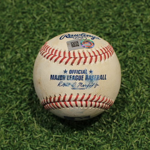 Photo of Game-Used Baseball: Andres Gimenez 69th Career Hit (CLE@KC 9/28/21)