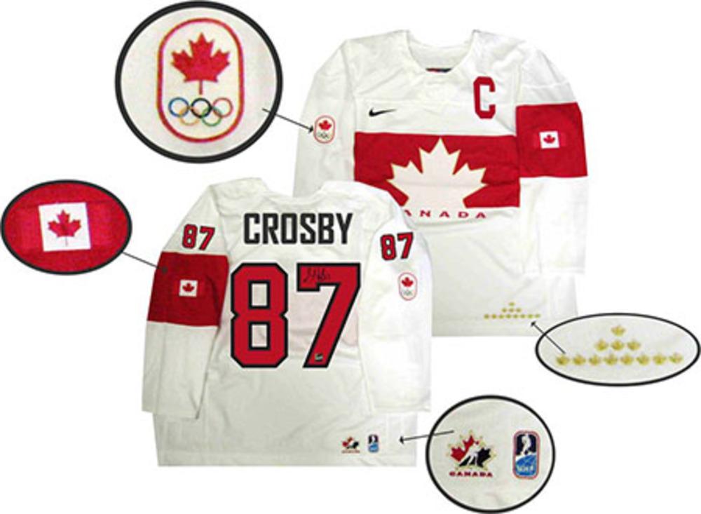Sidney Crosby - Signed 2014 Sochi Team Canada White Jersey