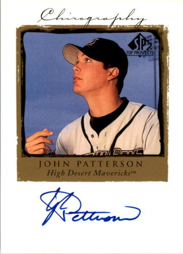Photo of 1999 SP Top Prospects Chirography #JP John Patterson