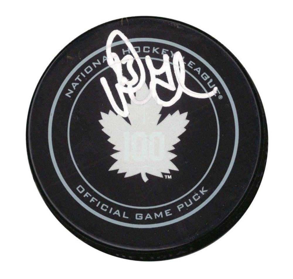 Doug Gilmour Signed Puck Leafs 100th Anniversary