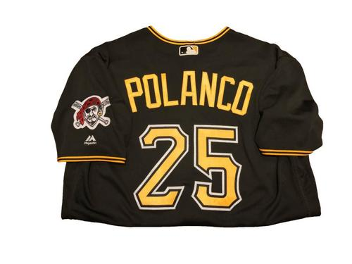 #25 Gregory Polanco Game-Used Black Alternate Jersey - Worn on 4/24/17