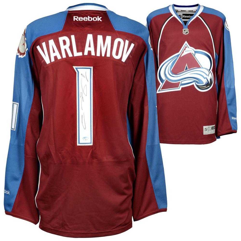Semyon Varlamov Colorado Avalanche Autographed Burgundy Reebok Premier Jersey