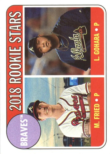 Photo of 2018 Topps Heritage #81 Luiz Gohara RC/Max Fried RC