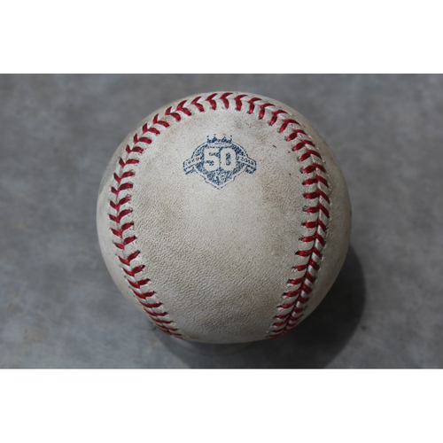 Photo of Game Used Baseball: Eddie Rosario 430th Career Hit (MIN at KC - 5/30/18)