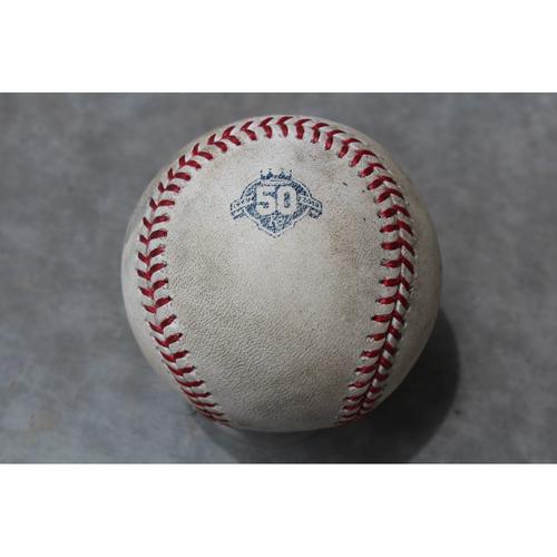 Photo of Game Used Baseball: Eddie Rosario 430th Career Hit (MIN at KC - 5/30/18)