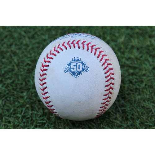 Photo of Game-Used Baseball: Xander Bogaerts 762nd Career Hit and Rafael Devers 145th Career Hit (BOS at KC - 7/8/18)