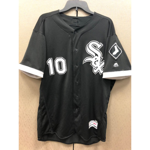 Yoan Moncada 2017 Game-Used Black Alternate Jersey